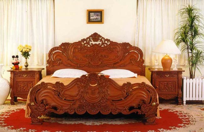 The glamour of india smooth decorator for Bed design images in india