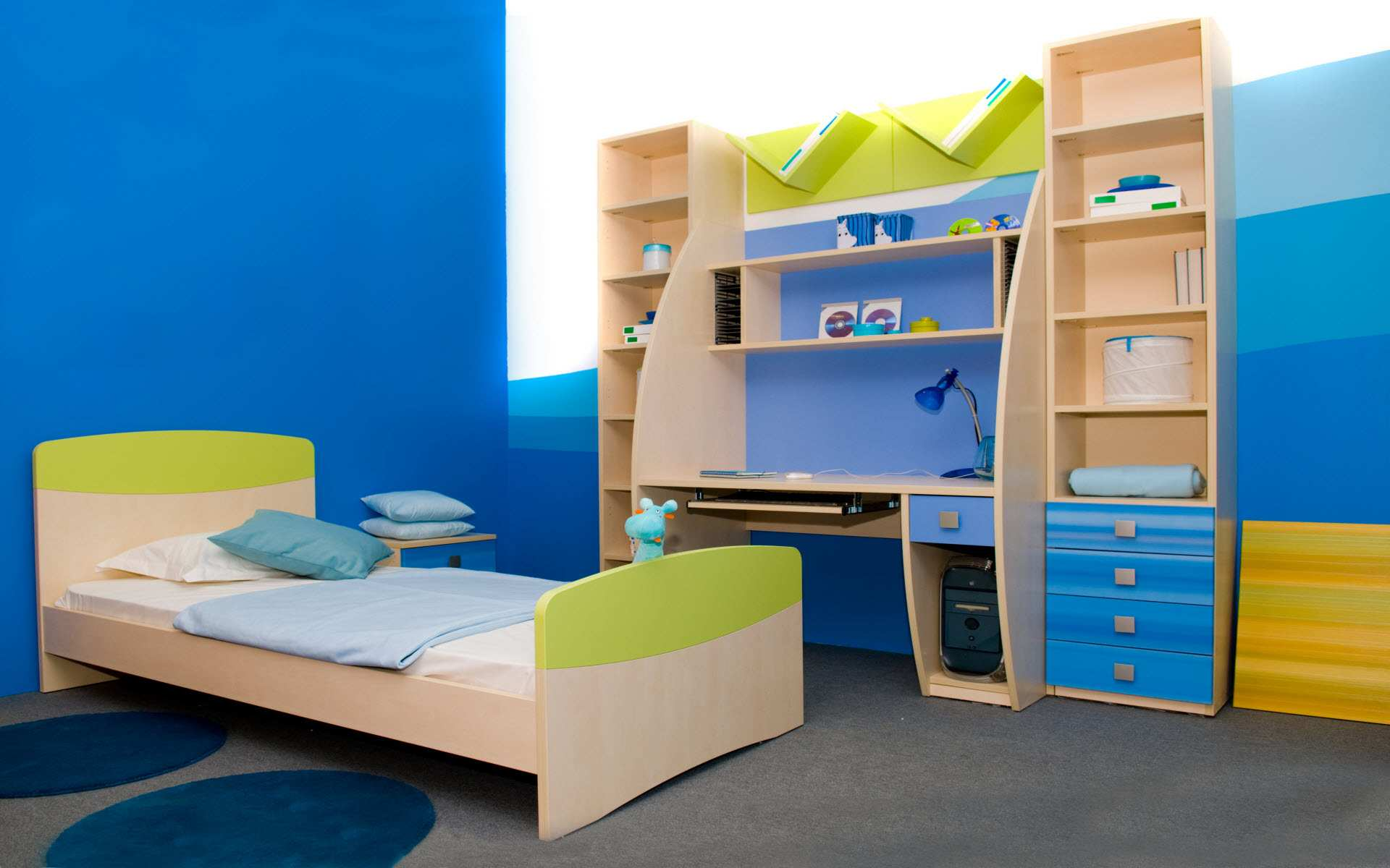 Kids room basic decorating principles smooth decorator for Room interior design for boys