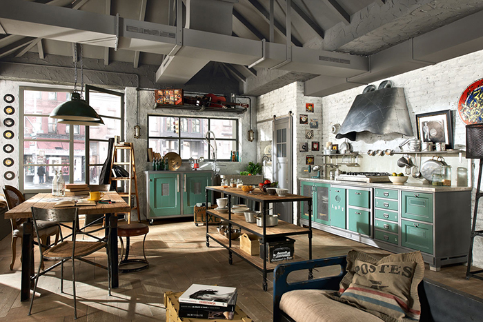 Image source: homeandecoration.com & Key Elements for Achieving Industrial Interior Design | Smooth Decorator