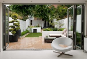 A photo of a chic outdoor are