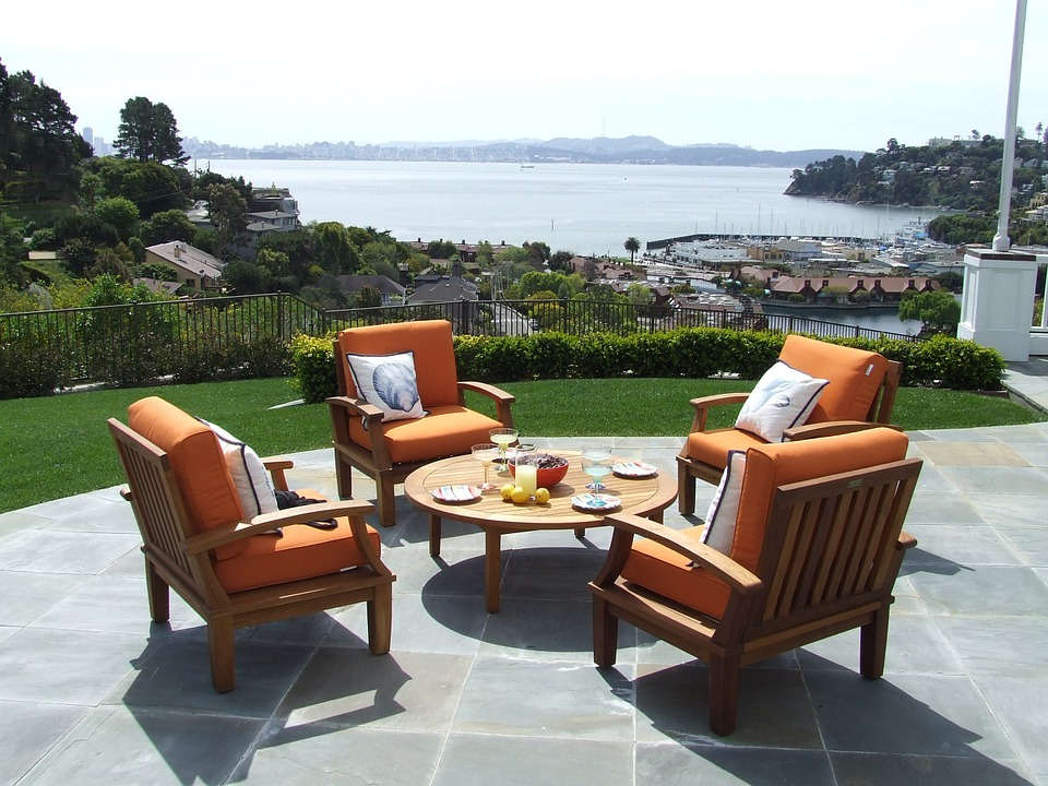 outdoor living room for higher property value