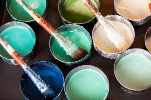buckets of paint