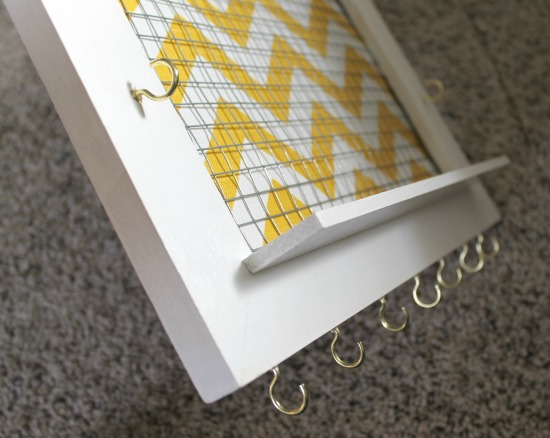 DIY make a frame for organizing accessories