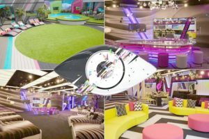 A collage of Big Brother House