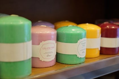 Candles of different colours